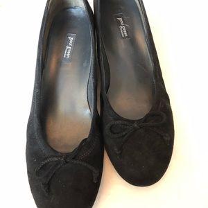 Paul Green suede wedge ballerina shoes